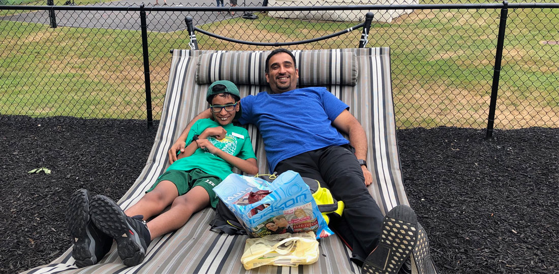 Father's Visit to the Summer Respite Camp