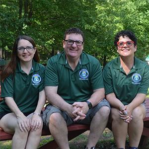Members of Camp Lee Mar Dream Team - Ari, Lynsey, and Laura